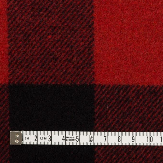 ウール×チェック(レッド&ブラック)×フラノ(フランネル) イメージ4