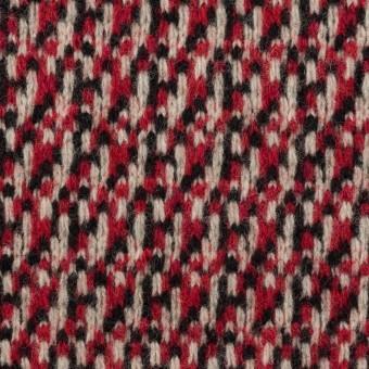 ウール×ミックス(アイボリー、レッド&ブラック)×ジャガードニット サムネイル1