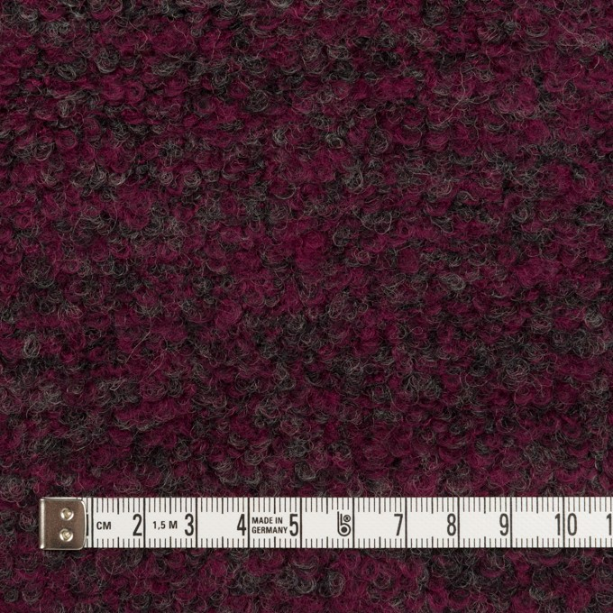 ウール&ポリエステル混×ミックス(プラムパープル&チャコールグレー)×ループニット イメージ4