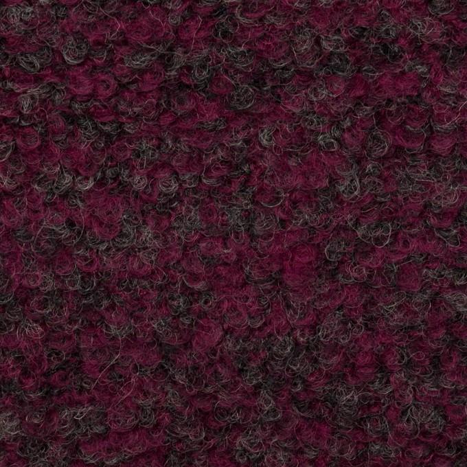 ウール&ポリエステル混×ミックス(プラムパープル&チャコールグレー)×ループニット イメージ1