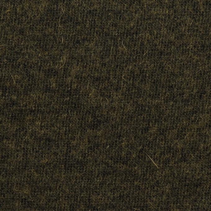 コットン&ウール×無地(オリーブドラブ)×天竺ニット_全2色 イメージ1