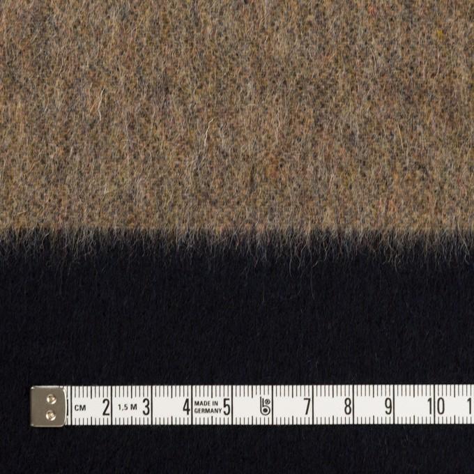 ウール&ポリエステル混×ボーダー(ベージュ&ネイビー)×シャギー イメージ4