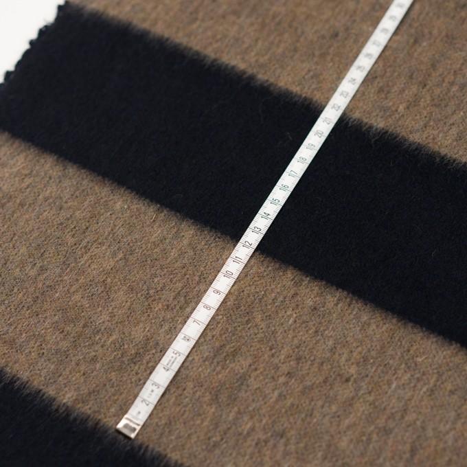 ウール&ポリエステル混×ボーダー(ベージュ&ネイビー)×シャギー イメージ6