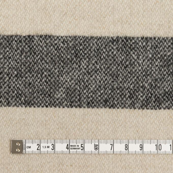 ウール×ボーダー(キナリ&ブラック)×ツイード イメージ4