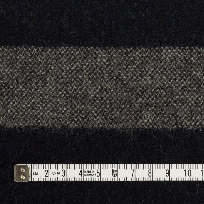 ウール×ボーダー(グレイッシュベージュ&ダークネイビー)×ツイード イメージ4