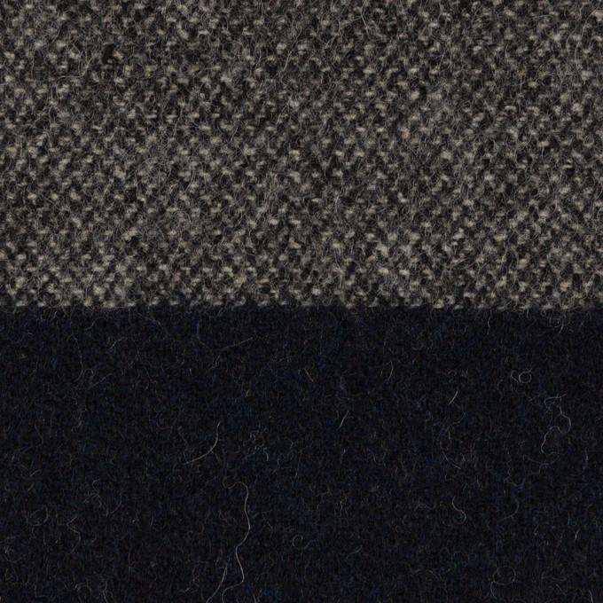 ウール×ボーダー(グレイッシュベージュ&ダークネイビー)×ツイード イメージ1