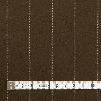 ウール×ストライプ(カーキブラウン)×ソフトメルトン サムネイル4