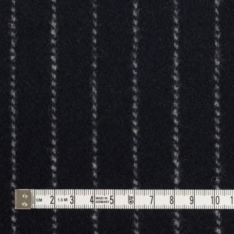 ウール×ストライプ(ダークネイビー)×ソフトメルトン サムネイル4