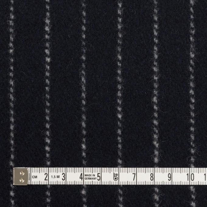 ウール×ストライプ(ダークネイビー)×ソフトメルトン イメージ4
