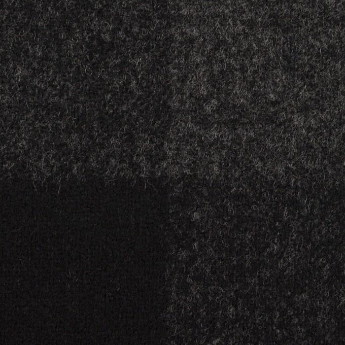 ウール×チェック(チャコールグレー&ブラック)×二重織_パネル イメージ1