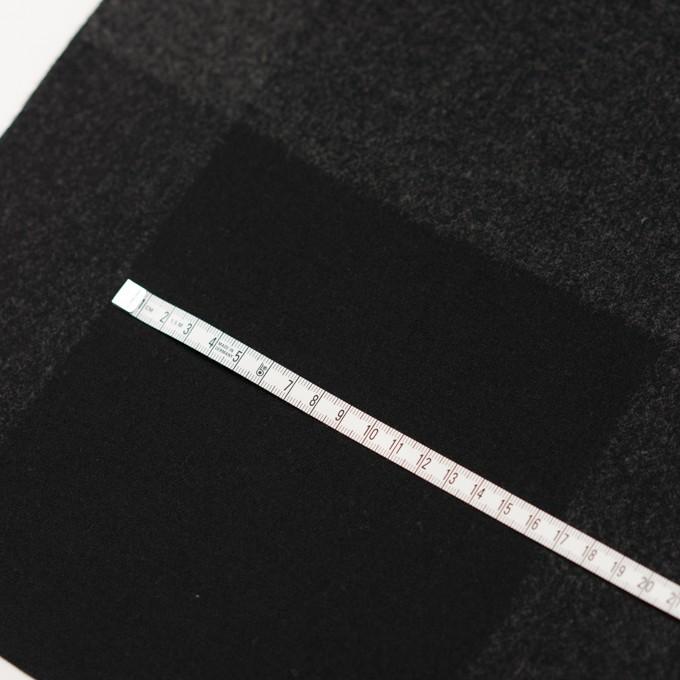 ウール×チェック(チャコールグレー&ブラック)×二重織_パネル イメージ6