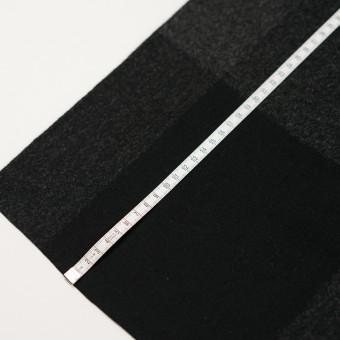 ウール×チェック(チャコールグレー&ブラック)×二重織_パネル サムネイル7