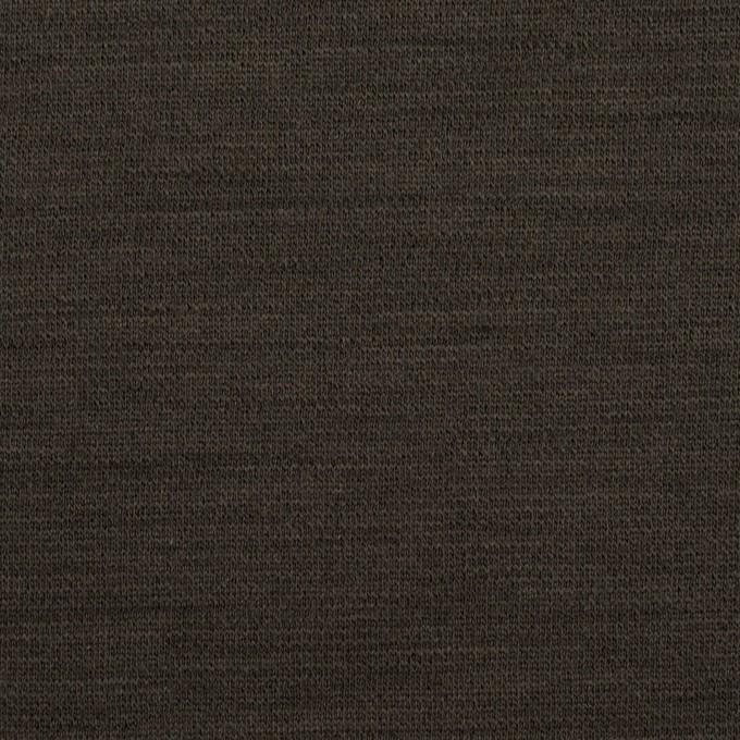 ウール&ポリウレタン×無地(アッシュブラウン)×Wニット イメージ1