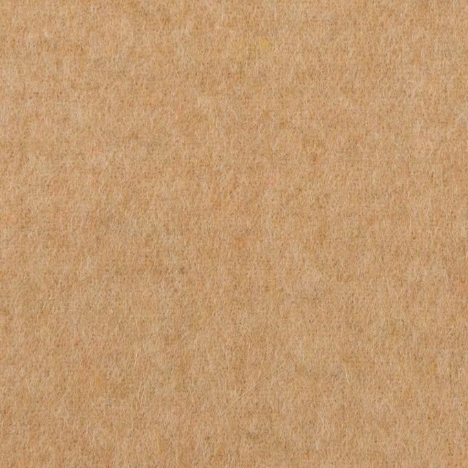 ウール×無地(ベージュ)×フラノ(フランネル) イメージ1