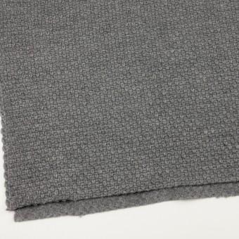 ウール&ナイロン×無地(グレー)×斜子織 サムネイル2