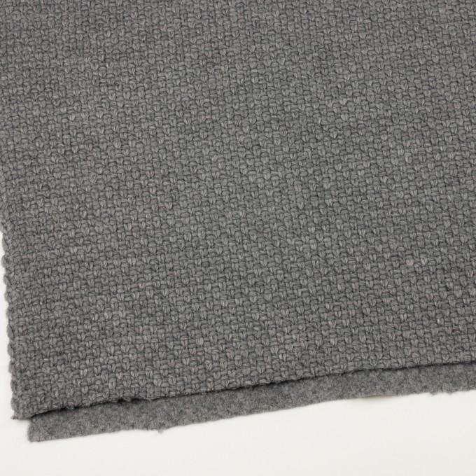 ウール&ナイロン×無地(グレー)×斜子織 イメージ2