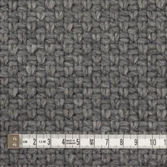 ウール&ナイロン×無地(グレー)×斜子織 サムネイル4