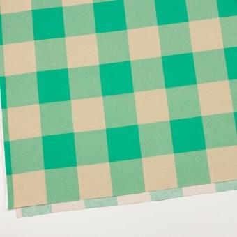 コットン×チェック(キナリ&エメラルドグリーン)×フランネル_全2色 サムネイル2