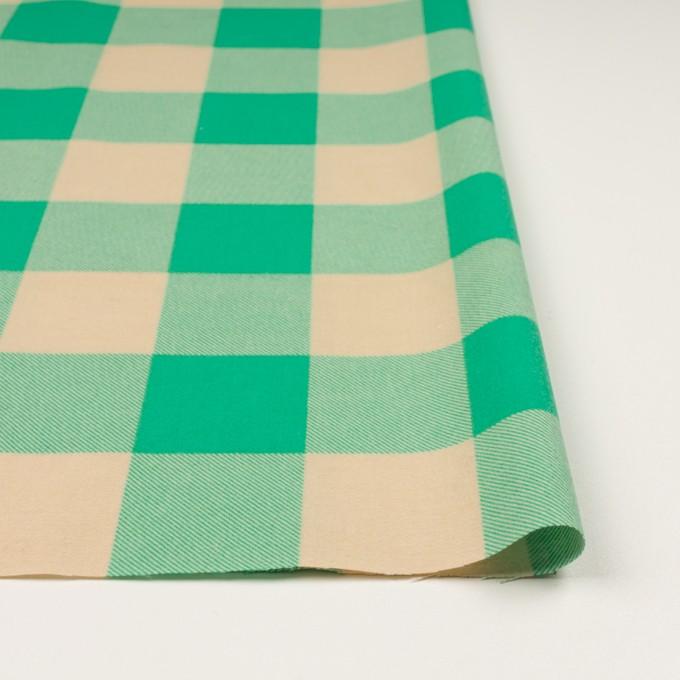 コットン×チェック(キナリ&エメラルドグリーン)×フランネル_全2色 イメージ3
