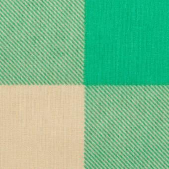 コットン×チェック(キナリ&エメラルドグリーン)×フランネル_全2色
