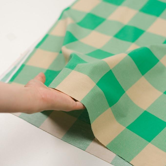 コットン×チェック(キナリ&エメラルドグリーン)×フランネル_全2色 イメージ5