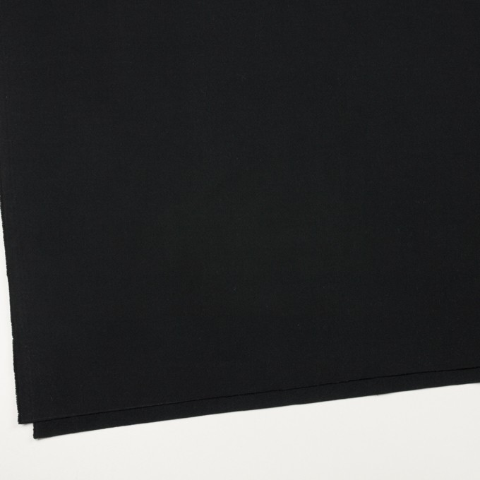 コットン×無地(ブラック)×フランネル イメージ2