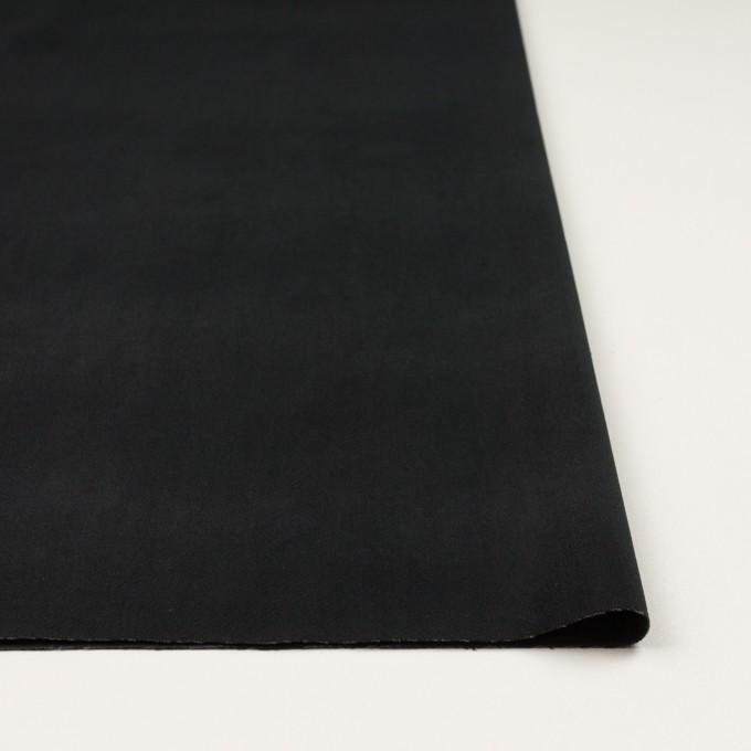 ポリエステル&コットン混×無地(ブラック)×ベッチンストレッチ_全3色 イメージ3