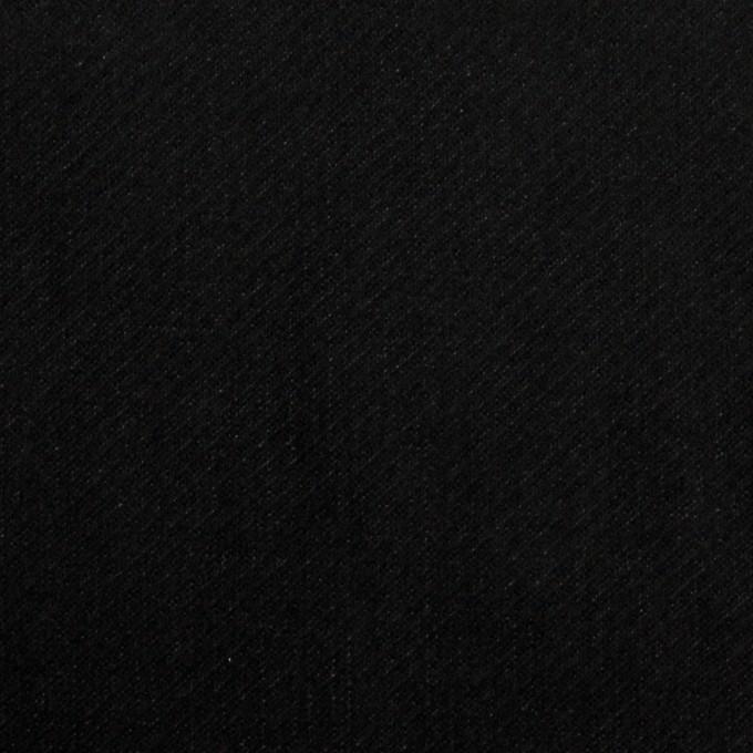 ポリエステル&コットン混×無地(ブラック)×ベッチンストレッチ_全3色 イメージ1