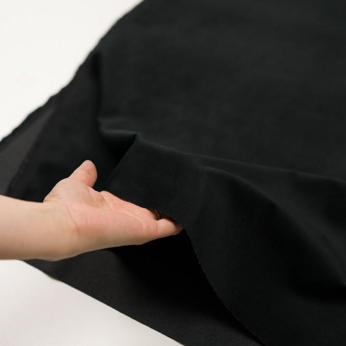 ポリエステル&コットン混×無地(ブラック)×ベッチンストレッチ_全3色 イメージ5