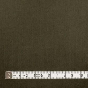 コットン&ポリウレタン×無地(ダークカーキグリーン)×細コーデュロイ・ストレッチ_全3色 サムネイル4