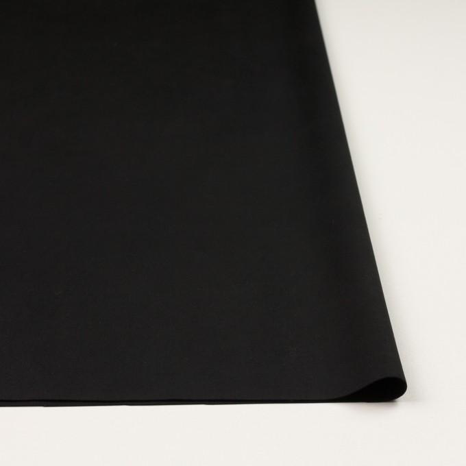 アクリル&ポリエステル混×無地(ブラック)×スエード(人工皮革)_全2色 イメージ3