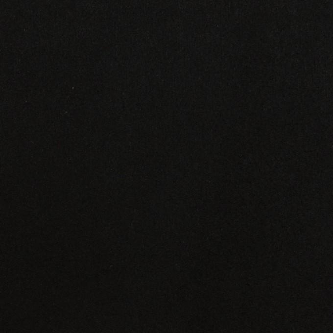 アクリル&ポリエステル混×無地(ブラック)×スエード(人工皮革)_全2色 イメージ1