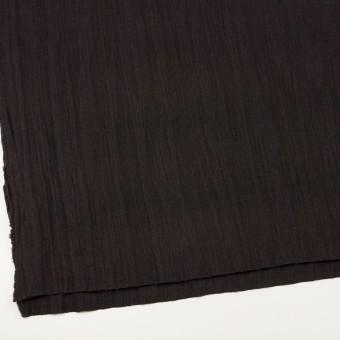 ウール&メタル×無地(ダークブラウン)×ジョーゼットワッシャー_全2色_イタリア製 サムネイル2