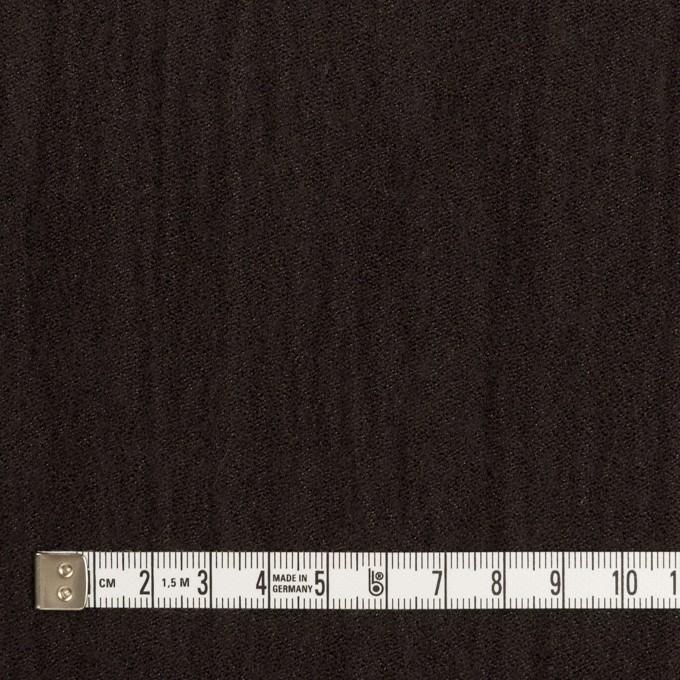 ウール&メタル×無地(ダークブラウン)×ジョーゼットワッシャー_全2色_イタリア製 イメージ4
