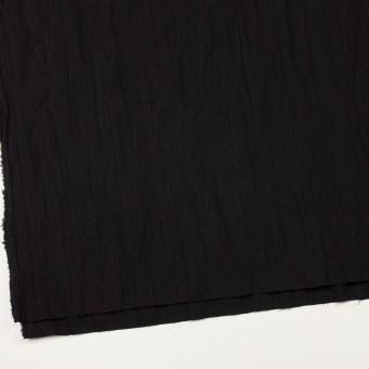 ウール&メタル×無地(ブラック)×ジョーゼットワッシャー_全2色_イタリア製 サムネイル2