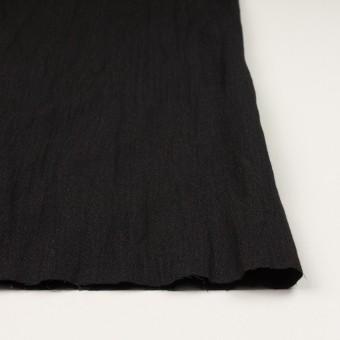 ウール&メタル×無地(ブラック)×ジョーゼットワッシャー_全2色_イタリア製 サムネイル3