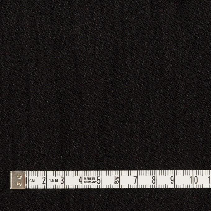 ウール&メタル×無地(ブラック)×ジョーゼットワッシャー_全2色_イタリア製 イメージ4