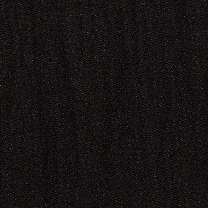 ウール&メタル×無地(ブラック)×ジョーゼットワッシャー_全2色_イタリア製 イメージ1