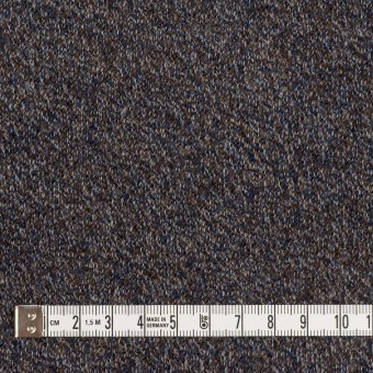 ウール×ミックス(グレー、ネイビー&ブラウン)×かわり編み サムネイル4