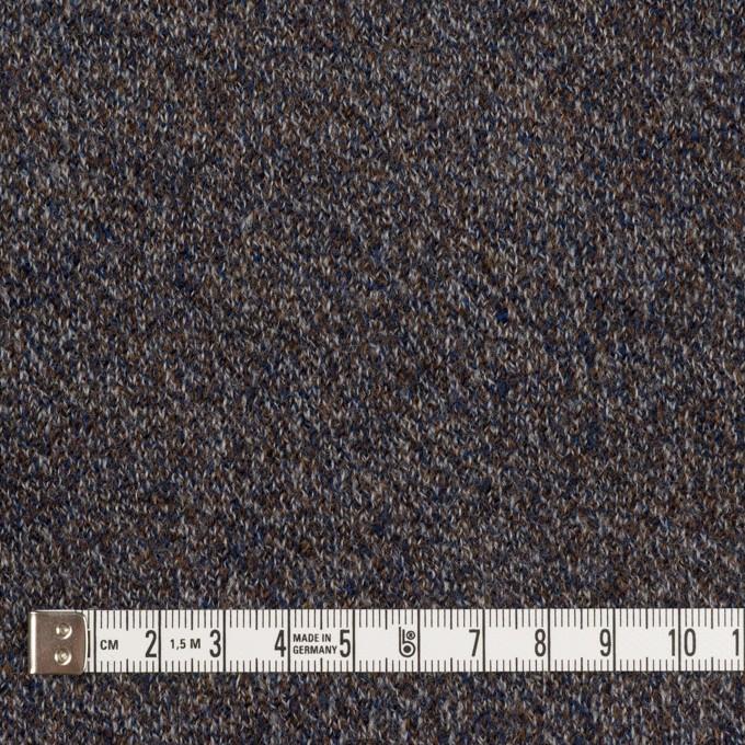 ウール×ミックス(グレー、ネイビー&ブラウン)×かわり編み イメージ4