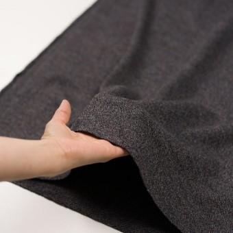 ウール×ミックス(グレー、ネイビー&ブラウン)×かわり編み サムネイル5