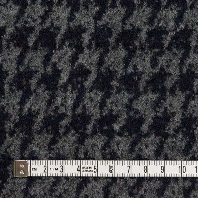 ウール&ナイロン×千鳥格子(グレー&ダークネイビー)×ループニット イメージ4