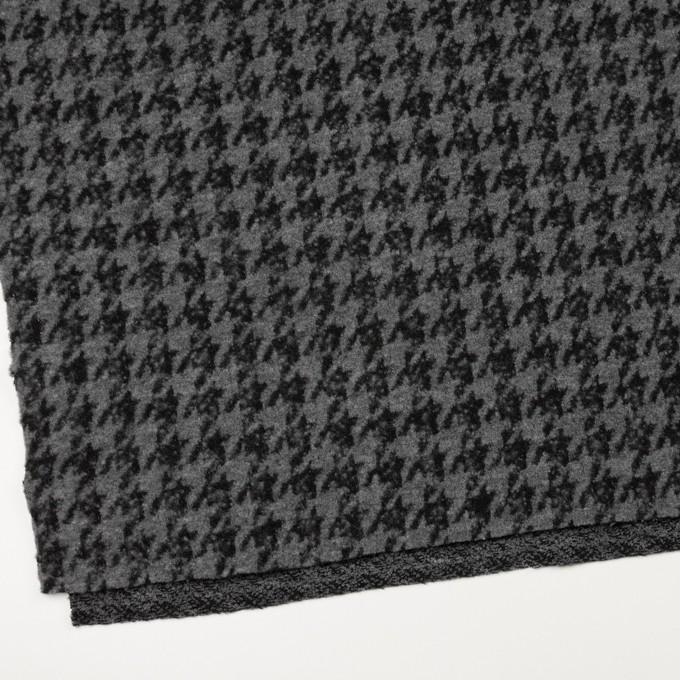 ウール&アクリル混×千鳥格子(グレー&ブラック)×ループニット イメージ2