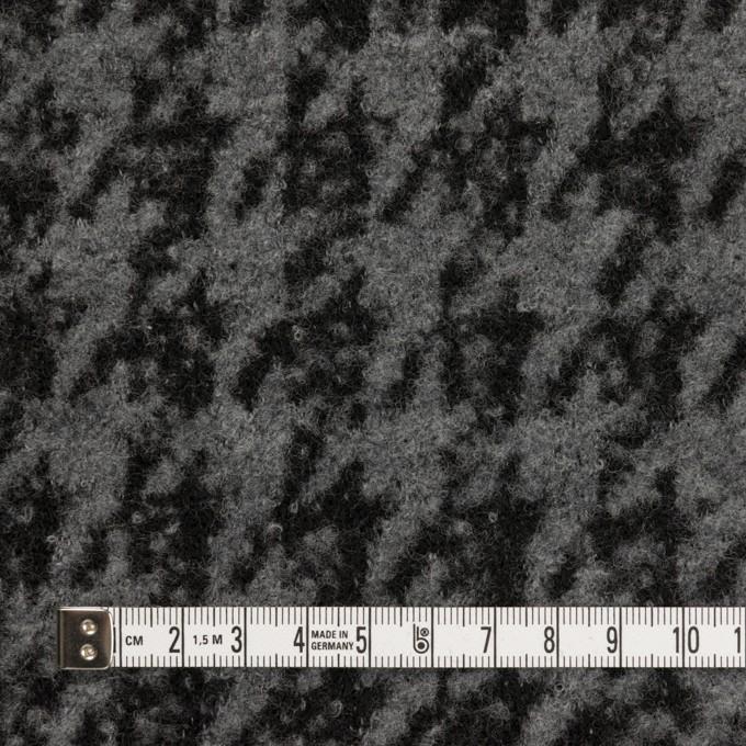 ウール&アクリル混×千鳥格子(グレー&ブラック)×ループニット イメージ4