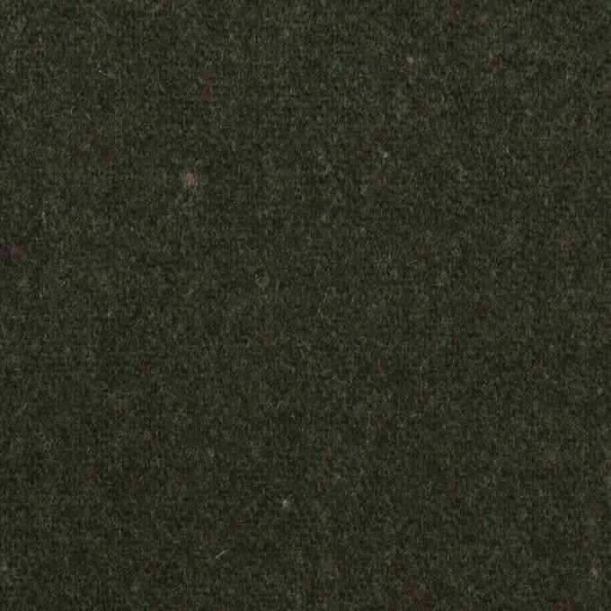 ウール×無地(モスグリーン)×ツイード イメージ1
