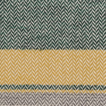 コットン×ボーダー(マスタード、グレー&モスグリーン)×ヘリンボーン_全3色 サムネイル1