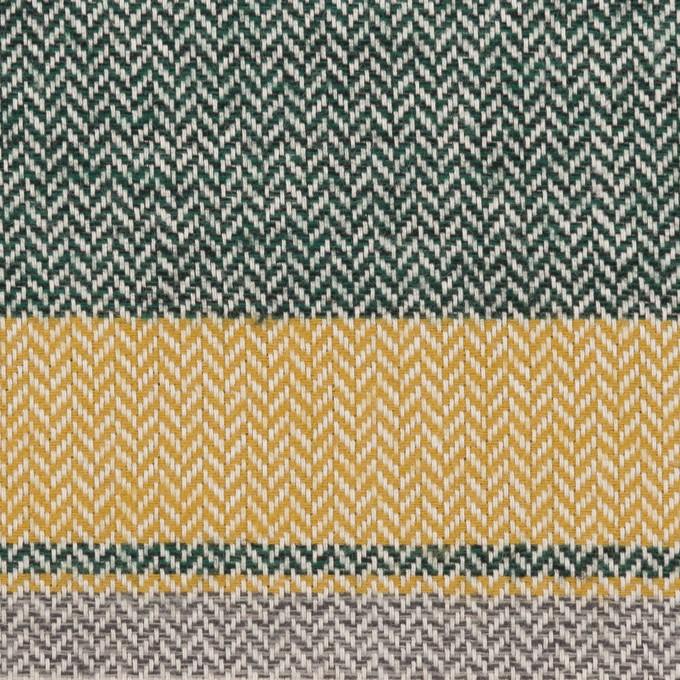 コットン×ボーダー(マスタード、グレー&モスグリーン)×ヘリンボーン_全3色 イメージ1