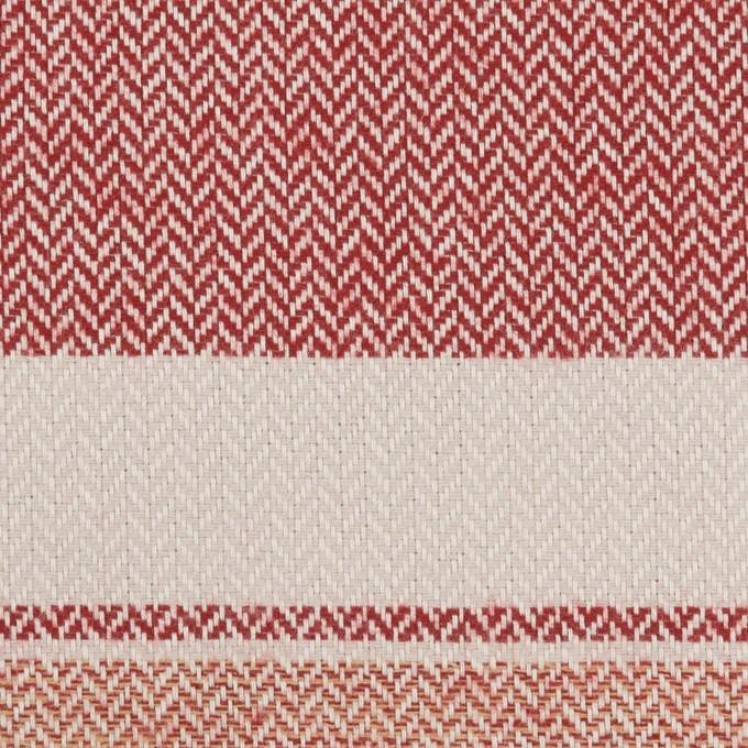 コットン×ボーダー(アイボリー、レッド&アガット)×ヘリンボーン_全3色 イメージ1