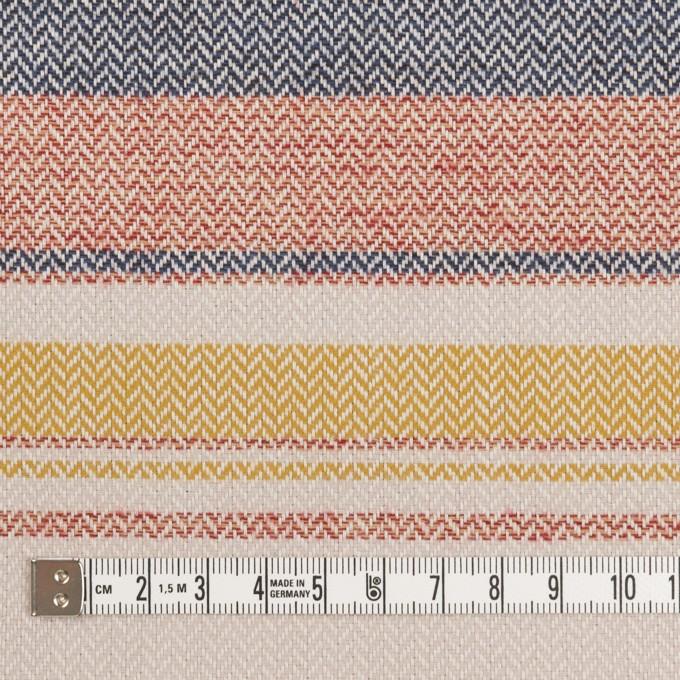 コットン×ボーダー(マスタード、レッド&ブルー)×ヘリンボーン_全2色 イメージ4