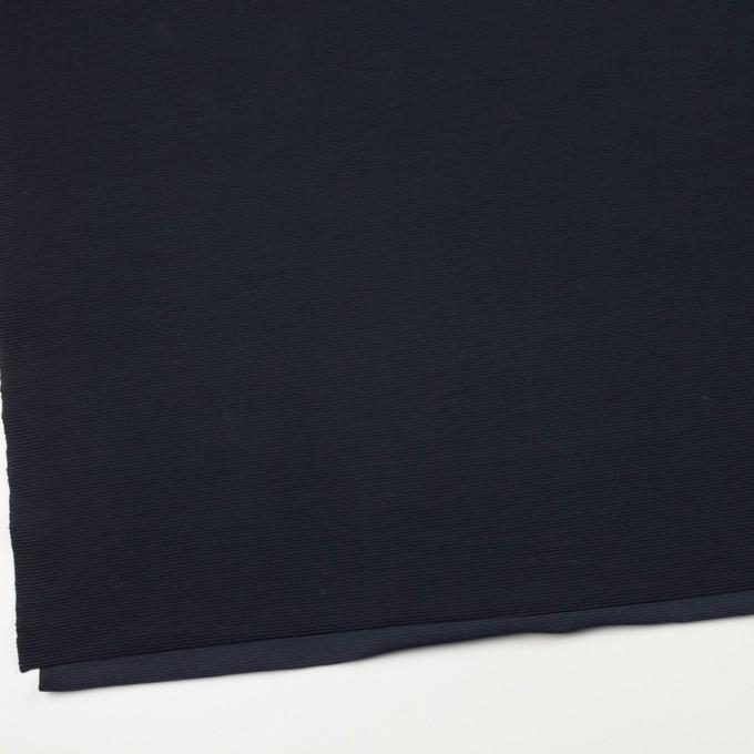 リヨセル&アクリル混×無地(ダークネイビー)×かわり編み イメージ2